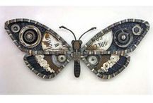 **~Art - Junk~** / Junk to Treasures... wonderful creations that are made from Junk. / by Janet S