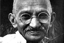 "Wisdom: Mahatma Gandhi / ""When I despair, I remember that all through history the way of truth and love has always won.  There have been tyrants and murderers, and for a time they can seem invincible, but in the end, they always fall. Always."" ~ Mahatma (Mohandas Karamchand) Gandhi"