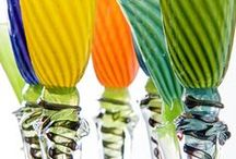 Blown glass / Art glass by Jarle og Camilla Knapstad