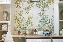 Wonderful Wallpaper / Kristie Barnett, The Decorologist, shares wallpaper inspiration. Check out more home decorating ideas on her website, TheDecorologist.com.