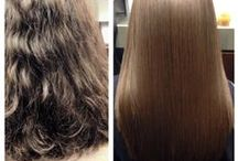 Cezanne Perfect Finish Results / Before & afters from our experts, who are loving this safe and 100% formaldehyde-free new Keratin treatment. It even makes hair healthier!!