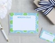 MC Paper :: In the Shop / Personalized stationery and gifts for every member of your family. Designs are modern classics, full of color and pattern. Available at www.meredithcollie.com/shop