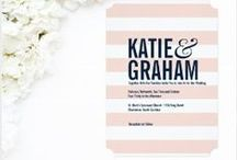 MC Paper Shop :: Wedding Collection / Wedding invitations and paper goods with a classic yet modern twist. Modern save the dates.
