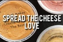 Spread the Cheese Love-Signature Cheese Spread Recipes / Di Bruno Bros. Original Handmande Cheese Spread is great for spreading on crackers, crusty bread, and can be used for cooking, too! http://www.dibruno.com/di-bruno-originals/di-bruno-handmade-cheese-spread