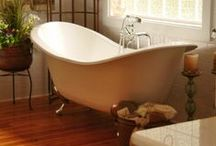 "Clawfoot Bathtubs / Our pinterest collection of Clawfoot Tubs shown in some amazing settings, and enticing finishes.   Nothing else gives a bathroom the ""wow factor"" like a beautiful clawfoot bathtub.