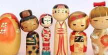 Kokeshi  and Matryoshka Love