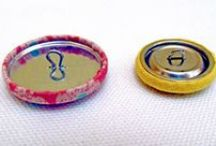 Cover Button Crazy / They're not just for clothing or home decorating. Think jewelry making. Think paper crafting. Fun to use, and super versatile, we're crazy about cover buttons.
