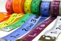 Beyond Measure / Let your love affair with tape measures, yard sticks and rulers begin now. Seriously, these inspirations are pure awesome. (And if you want some practical information about tape measures, you'll find that here, too!)
