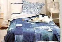 blue jeans patchwork