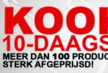 Kook 10-Daagse / Tijdens de Kook 10-Daagse kunt u 10 dagen lang profiteren van de scherpste kortingen op meer dan 100 producten. Vind hier de mooiste aanbiedingen en kijk voor meer mooie aanbiedingen snel op www.kookwinkel.nl.