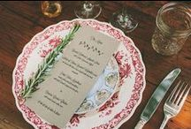 menus + place settings.