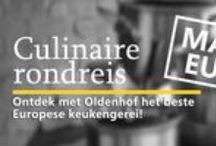 Culinaire rondreis door Europa / Ga met Oldenhof op culinaire rondreis! Wij nemen u mee langs de regio's waar de echte kwaliteitsproducten vandaan komen, binnen Europa mét een uitstapje naar Japan. Ontdek de producten en merken die horen bij Frankrijk, Duitsland, Italië, Japan, Scandinavië én de Benelux.