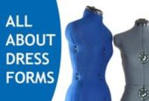 Dressforms / Everything you want to know about dressforms is here! If you sew your own clothing, make garment alterations, or sew for your kids, using a dressform makes your job so much easier, and precise. Learn about the different styles/sizes that are available, how to choose/use them, and how to pad/cover them. Let's hear it for dressforms!