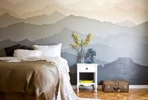 WALL IDEAS / Creative ideas for the wall with paint, wallpaper or other materials.