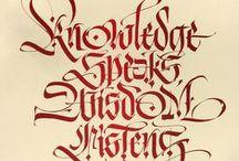Calligraphy Alphabet / Olika typer av kalligrafiska alfabeten