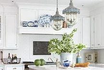 Kings Lane Kitchen / Inspiration for the #kitchen of a #farmhouse in #Napa