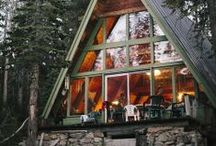 A-Frame Dreaming / I love A-Frame houses. Someday I'd like to have one tucked away in the woods somewhere. That would be nice.