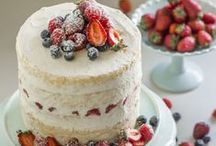 Naked Cakes / Not a fan of frosting but love cake? Be inspired by naked cakes that are stunningly tantalizing. Sure to satisfy your sweet tooth. Bake one today!