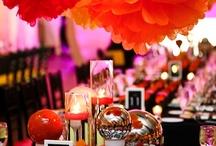 orange/peach wedding