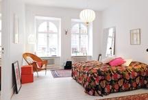 RV large bedroom / king size bed - feminine - elegant - subtle - graphic