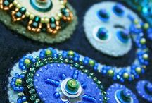 Fabric / Embroidery, felt, beads / by Jeanne Young