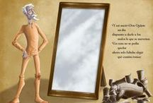 The Adventures of Don Quixote / The Spanish literature classic in an illustrated and interactive version for children. Available for iOs and Android. Bilingual version English-Spanish.