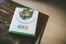 """""""SaladLove"""" Book / This is a book of 260 delicious, healthy salads — one for every weekday of the year — each of which was made, photographed and eaten by David Bez in his own office. With fresh ingredients, minimum preparation and maximum flavour, Salad Love shows you David's own simple approach to ensure your desk lunch will never be the same again. / by SaladPride by David Bez"""