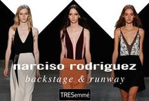 Narciso Rodriguez Spring 2015 / TRESemmé created effortless waves to complement Narciso Rodriguez's spring/summer 2015 line inspired by young, free, liberated women.