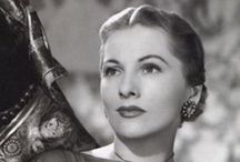 Joan Fontaine / Photos of actress Joan Fontaine. Oscar winning actress in the leading lady category.  / by Lisa Laird