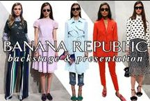 Banana Republic Spring 2016 / TRES lead stylist, Jeanie Syfu, created deep side part down-do's and wispy high-ponies to complement Banana Republic's rich, exotic spice market-inspired Spring 2016 collection.