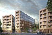 The Bronze / Arkitekter: KOD  The Bronze handlar om att skapa något som sticker ut – ett hus och boende som bryter fram ur berget, staden och naturen. En skinande huskropp som tar för sig och syns på håll. Kod Arkitekter har ritat en byggnad som sätter standarden för detta expansiva område mellan Bromma och Sundbyberg. En byggnad som låter det urbana möta naturen och som blir en spännande kontrast till omgivningarna.