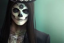 ☠ Day Of The Dead Inspiration / Be beautiful to the bone with our colourful collection of casket-ready costume and makeup ideas.
