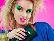 ☆ 1980s Inspiration / Is the 1980s the greatest era of fashion? The leg-warmers, the neon, the leggings, and best of all is the big hair. We think it just might be, just don't forget your fluorescent green eyeshadow.