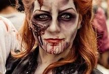 ☠  Zombie Makeup Inspiration / Zombie makeup inspiration to sink your teeth into. If you want to look gruesomely gorgeous, or just downright disgusting, zombies are the perfect costume classic for Halloween.