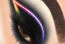 ☆ Neon Makeup / If you're looking for a way to really make your look pop, then neon makeup is the best way to become a beautiful interstellar queen.