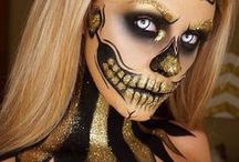 ☆ Glittery Halloween Makeup / Make your Halloween look beautiful and girly or haunting and striking, by channelling these glitter makeup ideas. From revamping cheekbones, to partings or whole bodies, glitter is the most versatile makeup trend around.