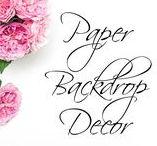 Paper Backdrop Decor