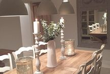 INTERIORS | DINING ROOM DECOR / Tables, chairs, home accessories, decor, soft furnishings, interior inspiration