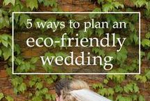 Green Wedding Ideas / Together we can make a difference!  Green wedding planning ideas to help reduce, reuse, and recycle what we have.  Easy, eco-friendly wedding planning tips will help reduce the amount of trash the ends up in landfills after our wedding.  Remember, less is more!
