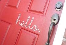 Doorways. / Doorway (n.) . [dawr-wey] . || A means of access. / by Christine ♥