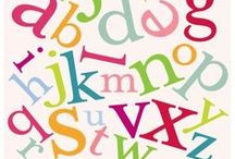 ABC's. / Alphabet (n.) . [al-fuh-bet, -bit] . || The letters of a language in their customary order. / by Christine ♥