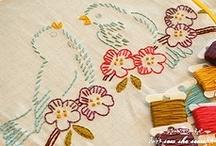 needlework / cross stitch, crochet, knitting, sewing