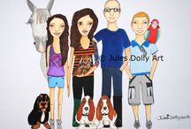 Jules Dollystrations / Bespoke commissions from 2012-2013