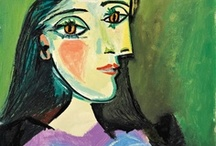 ~Pablo Picasso~ / Pablo Picasso(1881-1973) was one of the greatest and most influencial artists of the 20th century, as well as the co-creator of Cubism. A Spanish expatriot, he was a painter, sculptor, printmaker, ceramicist and a stage designer. The enormous body of his work remains forever. / by Sharon Phillips
