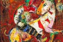 ~Marc Chagall~ / Chagall, name at birth, Moishe Shagal, (1887-1985)(aged97)was of Russian decent but was later known as French. Though an early Modernist, His movement was Cubism and Expressionism and his field was painting and stained glass. Pablo Picasso compared Chagall's use of vibrant color to that of the art of Henri Matisse. / by Sharon Phillips