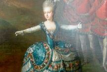~Marie Antoinette and Such~ / The story of Marie Antoinette is written under the many paintings. I apologize for not having them in order. I recommend further research on the internet to get more details of her life. / by Sharon Phillips