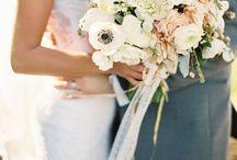Bridal blooms, tables, ceilings + colour palettes / Wedding bouquets, hair pieces and center pieces / by Kerry W (née M)