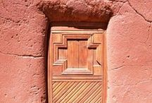 Santa Fe doors, windows and gates / Santa Fe is the 2nd oldest city in the U.S. We love walking (and driving) around town taking photos of great architectural details and others do to. Here are some of our photos and repins that we love.