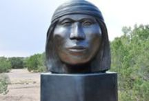Native American Art in Santa Fe / Santa Fe is a center for Native American Art. It hosts the annual SWAIA Indian Market each summer- the largest event of its kind in the world and is home to the AIAI (American Institute of Indian Art a school for Native American artists.