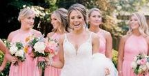 bridesmaids / You'll definitely need your girls with you on the big day. | bridesmaids, bride, wedding party, bridal party, wedding planning, flower girls, maid of honor, matron of honor, bridesmaids dresses, bridesmaid ideas, welcome gift, bridesmaid gift, bridesmaid proposal, wedding proposal, wedding fashion, wedding trends, photography, bridal party poses, bridal party shots